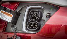 Hyundai Kona Electric charging inlet (CCS Combo 2)