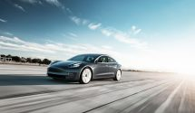 Tesla Model 3 Performance - Midnight Silver Tarmac Motion (wallpaper 2,560x – click to enlarge)