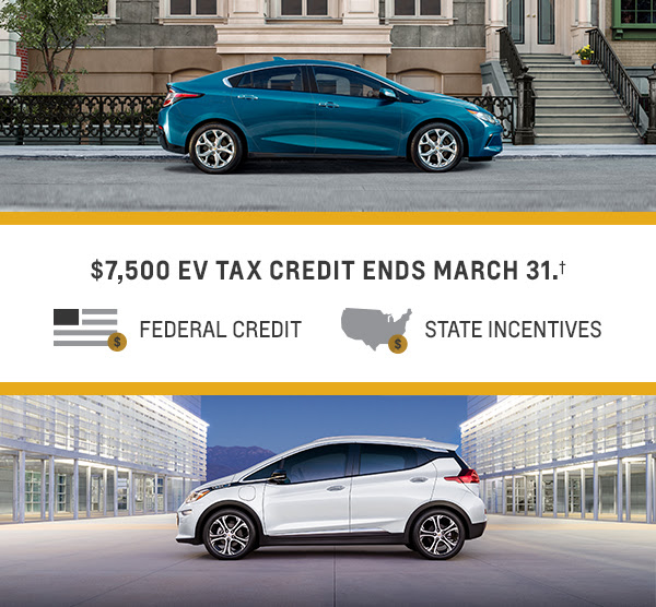 Purchase A New Volt Or Bolt Ev By March 31 2019 To Take Advantage Of The Available Federal Tax Credit Up 7 500