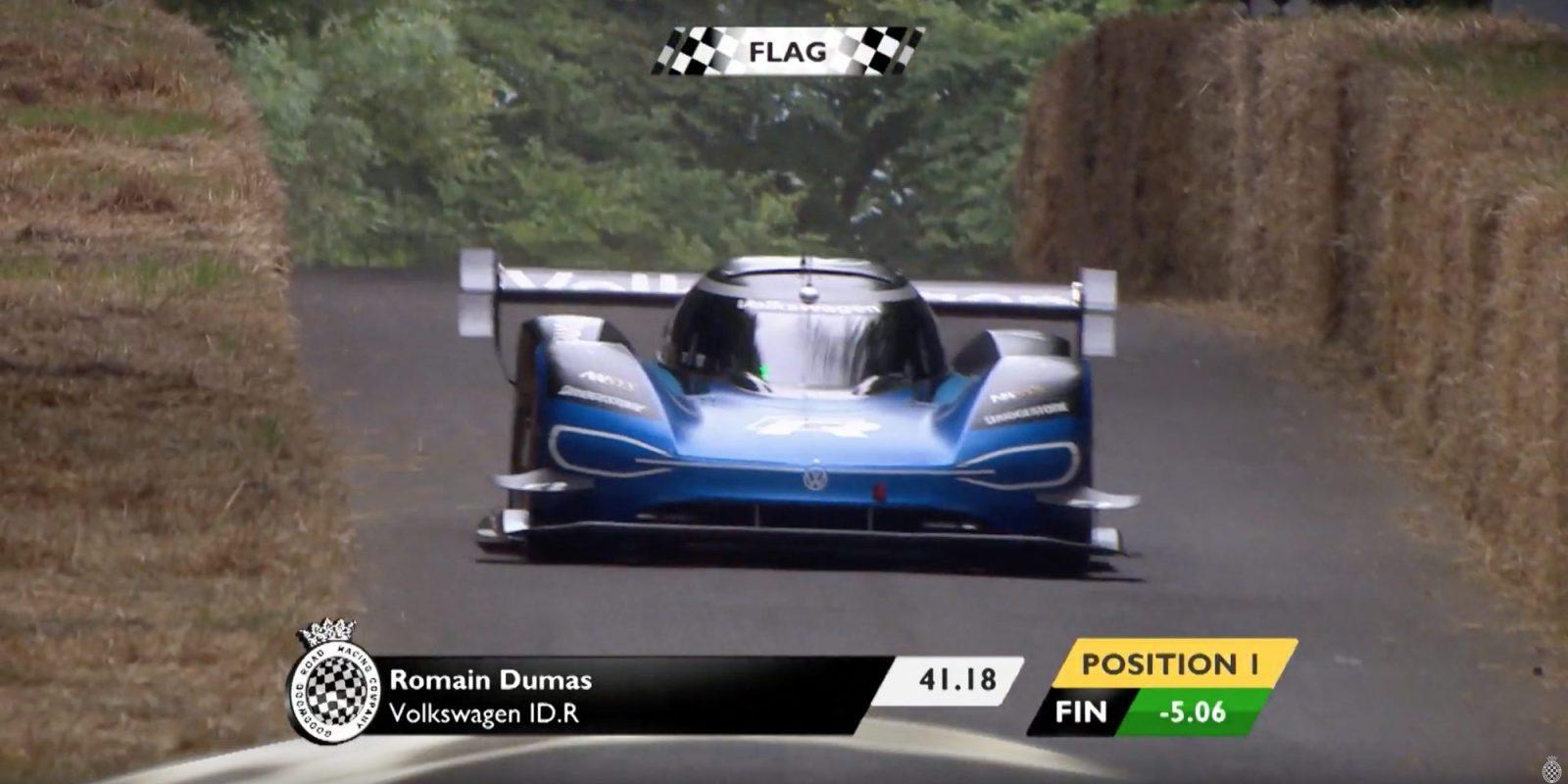 Volkswagen ID R breaks 20-year-old Goodwood hillclimb record